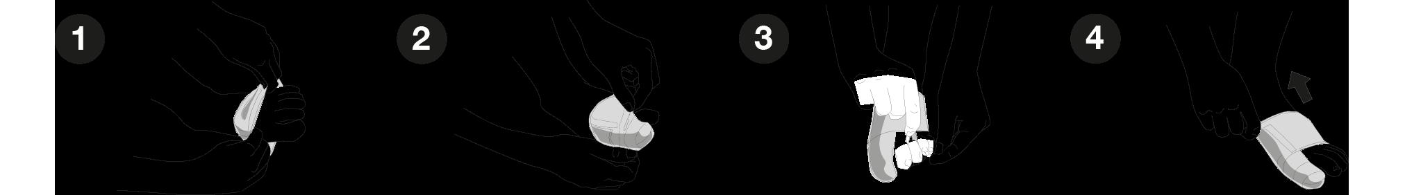 Como colocar el Corrector de juanete y desgaste plantar de Farmalastic
