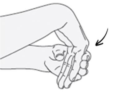 Flexión de la muñeca (hacia abajo)