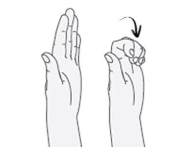 Doblar los dedos