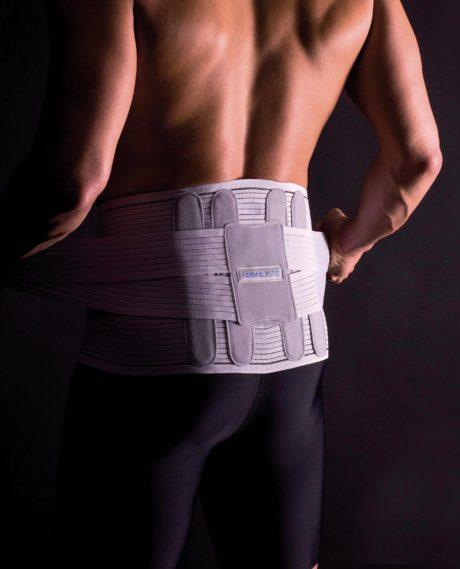 Faja sacrolumbar con cinturón de refuerzo lumbar regulable en altura