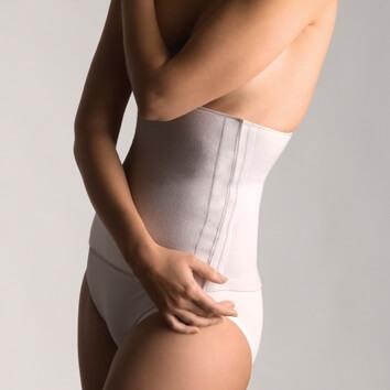 Faja básica de algodón con velcro para la espalda
