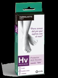 Protector para zonas del pie que sufren con el roce