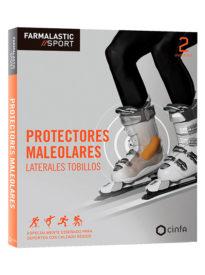 Protector para el lateral del tobillo diseñado para deportes con calzado rígido