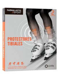 Protector de tibia diseñado para deportes con calzado rígido