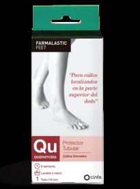 Protector para callos localizados en la parte superior del dedo del pie