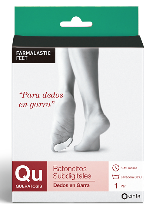 Ratoncitos subdigitales para dedos del pie en garra