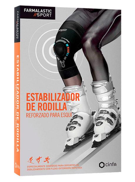 Estabilizador de Rodilla diseñado para deportes de deslizamiento con flexo-extensión repetida