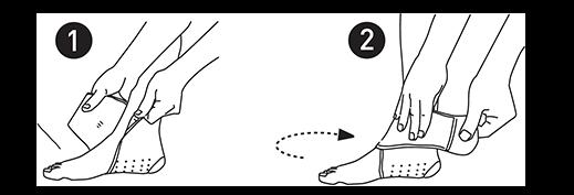 Tobillera de Neopreno Farmalastic Sport. Instrucciones de colocación